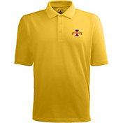 Antigua Men's Iowa State Cyclones Gold Xtra-Lite Polo