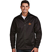 Antigua Men's Iowa State Cyclones Black Performance Golf Jacket