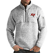 Antigua Men's Tampa Bay Buccaneers Fortune Grey Pullover Jacket