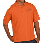 Antigua Men's Super Bowl 50 Champions Denver Broncos Pique Xtra-Lite Orange Polo