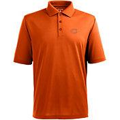 Antigua Men's Chicago Bears Pique Xtra-Lite Orange Polo