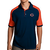 Antigua Men's Chicago Bears Century Navy Polo