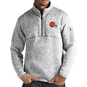 Antigua Men's Cleveland Browns Fortune Grey Pullover Jacket