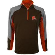 Antigua Men's Cleveland Browns Mighty Brown Quarter-Zip Jacket
