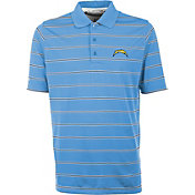 Antiqua Men's San Diego Chargers Deluxe Light Blue Polo