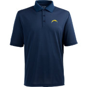 Antigua Men's Los Angeles Chargers Pique Xtra-Lite Navy Polo