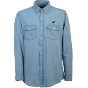 Antigua Men's Arizona Cardinals Chambray Button-Up Shirt