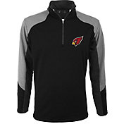 Antigua Men's Arizona Cardinals Mighty Black Quarter-Zip Jacket