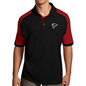 Antigua Men's Atlanta Falcons Century Black Polo