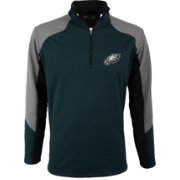 Antigua Men's Philadelphia Eagles Mighty Teal Quarter-Zip Jacket