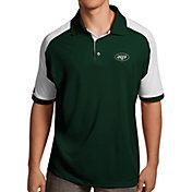 Antigua Men's New York Jets Century Green Polo