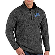 Antigua Men's Detroit Lions Fortune Black Pullover Jacket