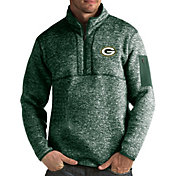 Antigua Men's Green Bay Packers Fortune Green Pullover Jacket