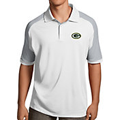 Antigua Men's Green Bay Packers Century White Polo