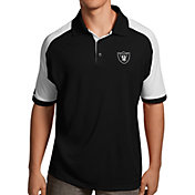 Antigua Men's Oakland Raiders Century Black Polo