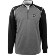 Antigua Men's Oakland Raiders Breakdown Grey Quarter-Zip Pullover