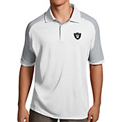 Antigua Men's Oakland Raiders Century White Polo