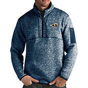 Antigua Men's Los Angeles Rams Fortune Navy Pullover Jacket