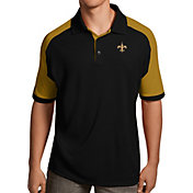 Antigua Men's New Orleans Saints Century Black Polo