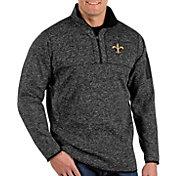 Antigua Men's New Orleans Saints Fortune Black Pullover Jacket