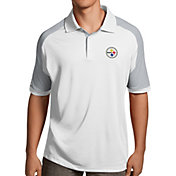 Antigua Men's Pittsburgh Steelers Century White Polo