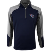 Antigua Men's Tennessee Titans Mighty Navy Quarter-Zip Jacket