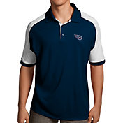 Antigua Men's Tennessee Titans Century Navy Polo