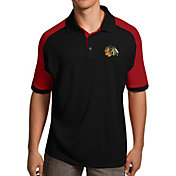 Antigua Men's Chicago Blackhawks Black/Red Century Polo