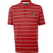 Antigua Men's Chicago Blackhawks Deluxe Red Polo Shirt