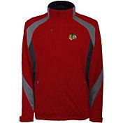 Antigua Men's Chicago Blackhawks Tempest Red Full-Zip Jacket