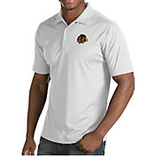 Antigua Men's Chicago Blackhawks Inspire White Polo