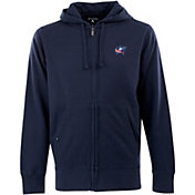Antigua Men's Columbus Blue Jackets Navy Full-Zip Fleece Hoodie