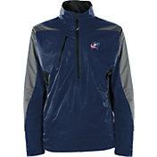 Antigua Men's Columbus Blue Jackets Discover Navy Half-Zip Pullover Jacket