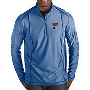 Antigua Men's St. Louis Blues Tempo Half-Zip Pullover Shirt