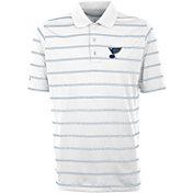 Antigua Men's St. Louis Blues Deluxe White Polo Shirt