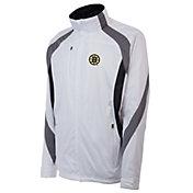 Antigua Men's Boston Bruins Tempest White Full-Zip Jacket