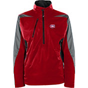 Antigua Men's Montreal Canadiens Discover Red Half-Zip Pullover Jacket