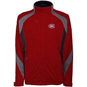 Antigua Men's Montreal Canadiens Tempest Red Full-Zip Jacket