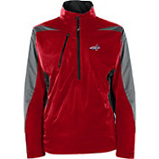 Antigua Men's Washington Capitals Discover Red Half-Zip Pullover Jacket