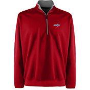 Antigua Men's Washington Capitals Leader Red Quarter-Zip Pullover Jacket