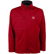 Antigua Men's New Jersey Devils Red Traverse Fleece Jacket