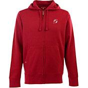 Antigua Men's New Jersey Devils Red Full-Zip Fleece Hoodie