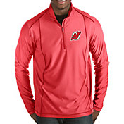 Antigua Men's New Jersey Devils Tempo Half-Zip Pullover Shirt