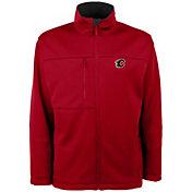 Antigua Men's Calgary Flames Red Traverse Fleece Jacket