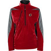 Antigua Men's Calgary Flames Discover Red Half-Zip Pullover Jacket