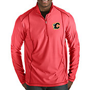 Antigua Men's Calgary Flames Tempo Half-Zip Pullover Shirt