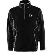 Antigua Men's Philadelphia Flyers Black Quarter-Zip Ice Pullover