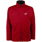 Antigua Men's Carolina Hurricanes Red Traverse Fleece Jacket