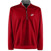 Antigua Men's Carolina Hurricanes Leader Red Quarter-Zip Pullover Jacket
