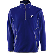 Antigua Men's Tampa Bay Lightning Blue Quarter-Zip Ice Pullover